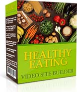 Product picture Healthy Eating Video Site Builder